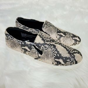 Snake Print Slip On Sneakers Boat Shoes Size 12